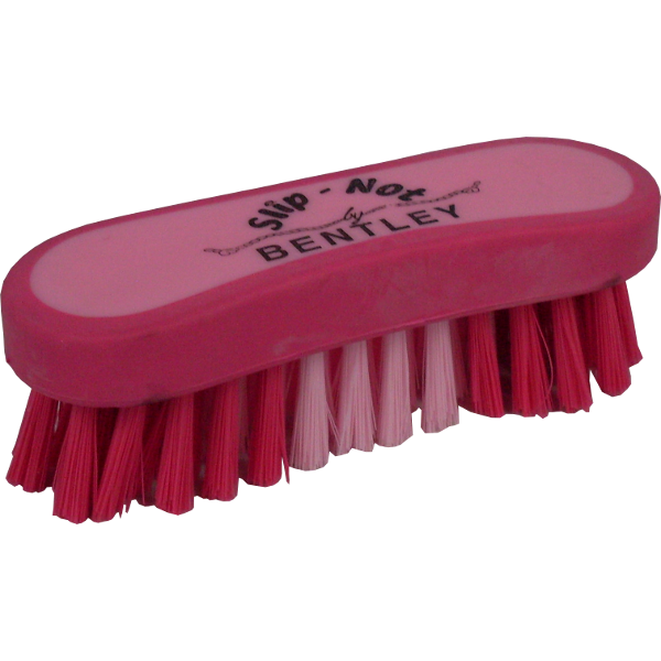 Bentley Slip Not Hoof Brush Pink At Burnhills: Bentley Slip-Not Face Brush